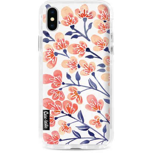 Casetastic Dual Snap Case Apple iPhone X / XS - Cherry Blossoms Peach