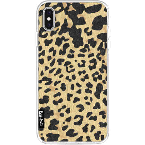 Casetastic Softcover Apple iPhone XS Max - Leopard Print Sand