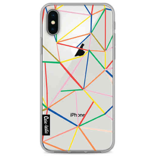 Casetastic Softcover Apple iPhone X / XS - Colorful Abstraction Outline