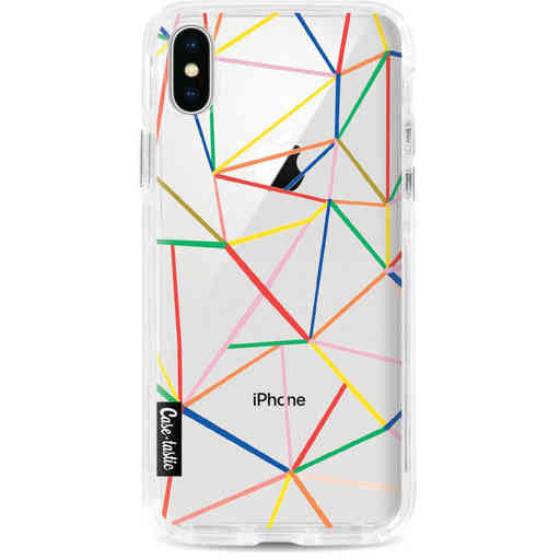Casetastic Dual Snap Case Apple iPhone X / XS - Colorful Abstraction Outline