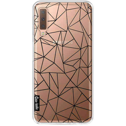 Casetastic Softcover Samsung Galaxy A7 (2018) - Abstraction Outline Black Transparent