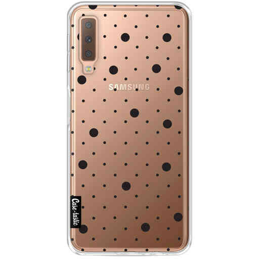 Casetastic Softcover Samsung Galaxy A7 (2018) - Pin Points Polka Black Transparent