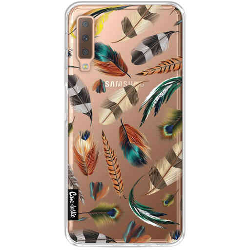 Casetastic Softcover Samsung Galaxy A7 (2018) - Feathers Multi
