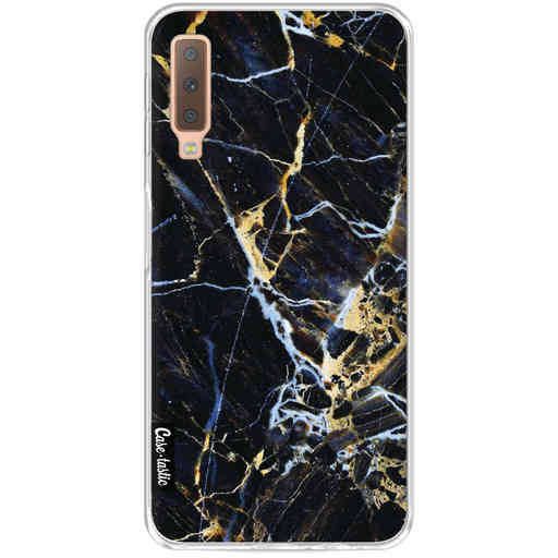 Casetastic Softcover Samsung Galaxy A7 (2018) - Black Gold Marble