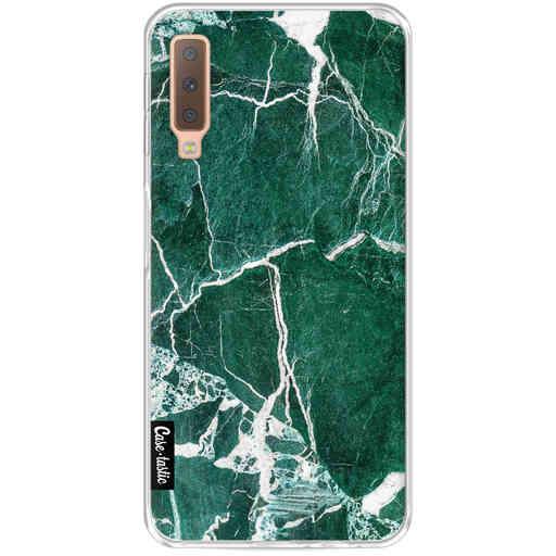 Casetastic Softcover Samsung Galaxy A7 (2018) - Dark Green Marble