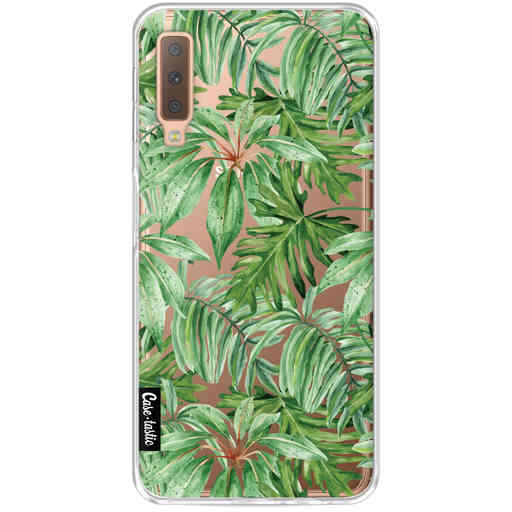 Casetastic Softcover Samsung Galaxy A7 (2018) - Transparent Leaves