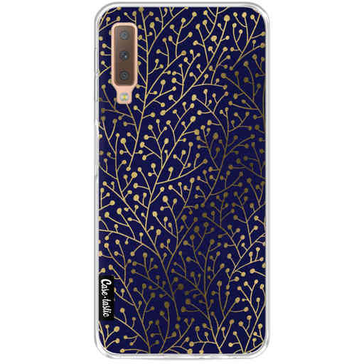 Casetastic Softcover Samsung Galaxy A7 (2018) - Berry Branches Navy Gold