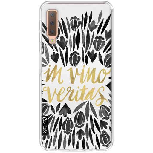 Casetastic Softcover Samsung Galaxy A7 (2018) - Black Vino Veritas Artprint