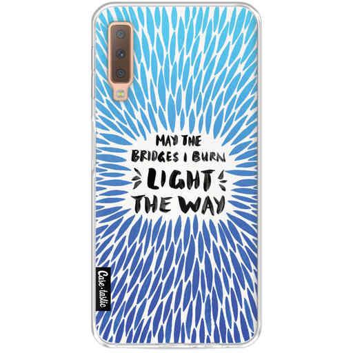 Casetastic Softcover Samsung Galaxy A7 (2018) - Blue Bridges Burn Burst Artprint