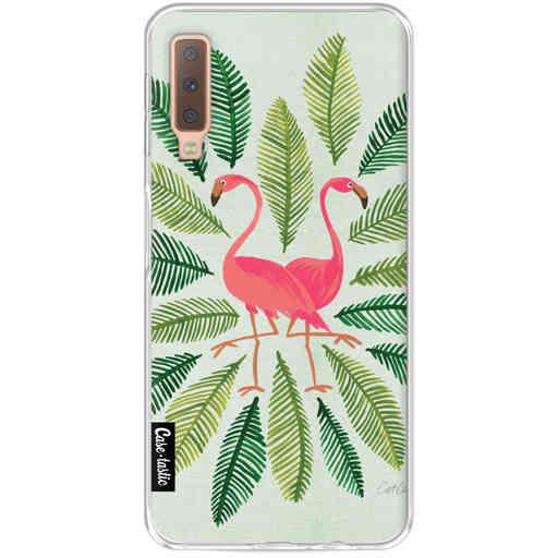Casetastic Softcover Samsung Galaxy A7 (2018) - Flamingos Green
