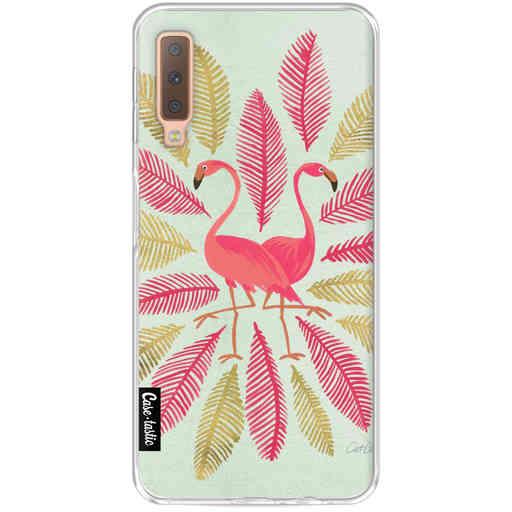 Casetastic Softcover Samsung Galaxy A7 (2018) - Flamingos Pink