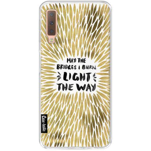 Casetastic Softcover Samsung Galaxy A7 (2018) - Gold Bridges Burn Burst