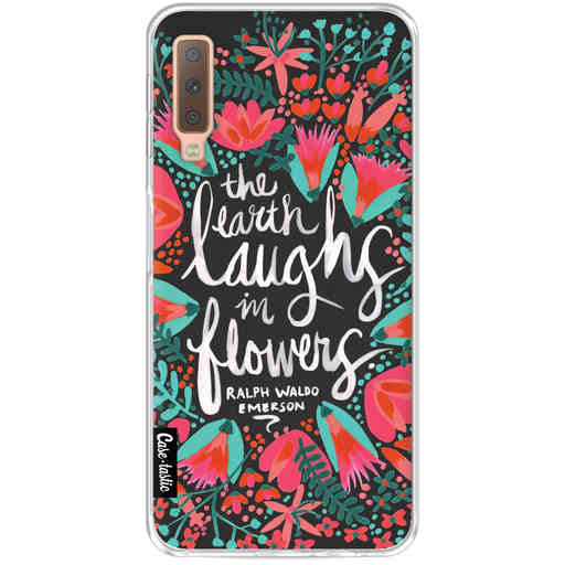 Casetastic Softcover Samsung Galaxy A7 (2018) - Laughs Flowers Charcoal