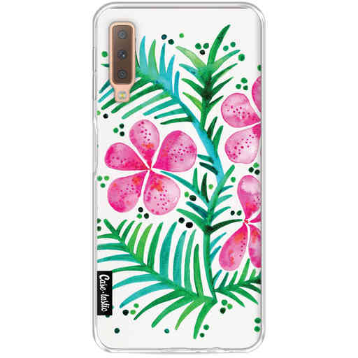 Casetastic Softcover Samsung Galaxy A7 (2018) - Magenta Orchid Bunch