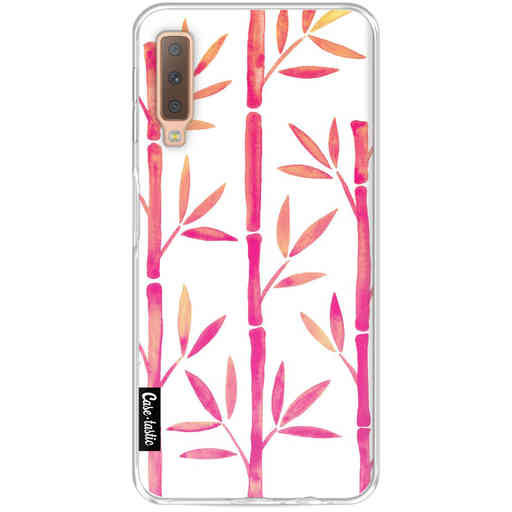 Casetastic Softcover Samsung Galaxy A7 (2018) - Pink Bamboo Pattern