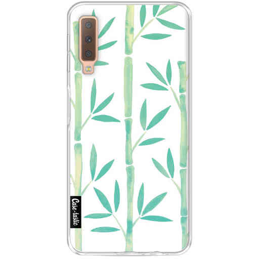 Casetastic Softcover Samsung Galaxy A7 (2018) - Turquoise Bamboo Pattern