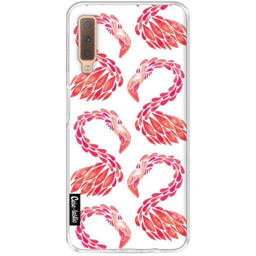 Casetastic Softcover Samsung Galaxy A7 (2018) - Pink Flamingo Pattern