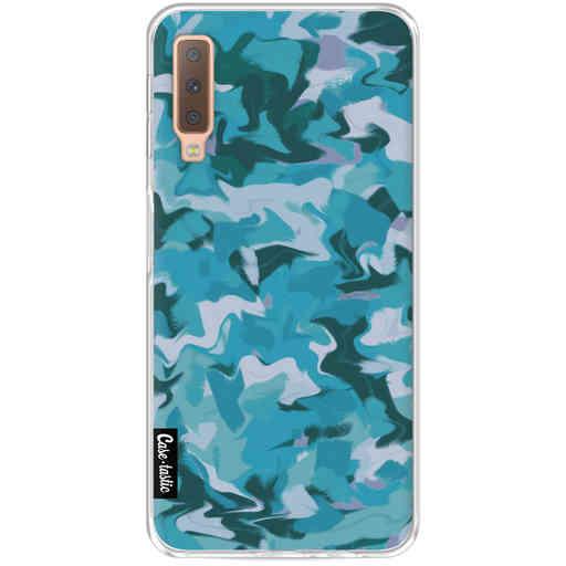 Casetastic Softcover Samsung Galaxy A7 (2018) - Aqua Camouflage