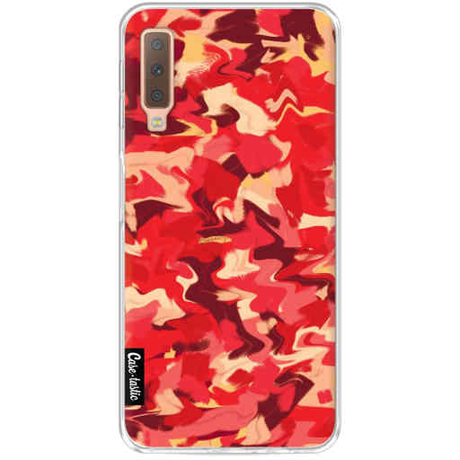 Casetastic Softcover Samsung Galaxy A7 (2018) - Fire Camouflage
