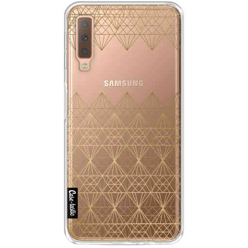 Casetastic Softcover Samsung Galaxy A7 (2018) - Golden Diamonds
