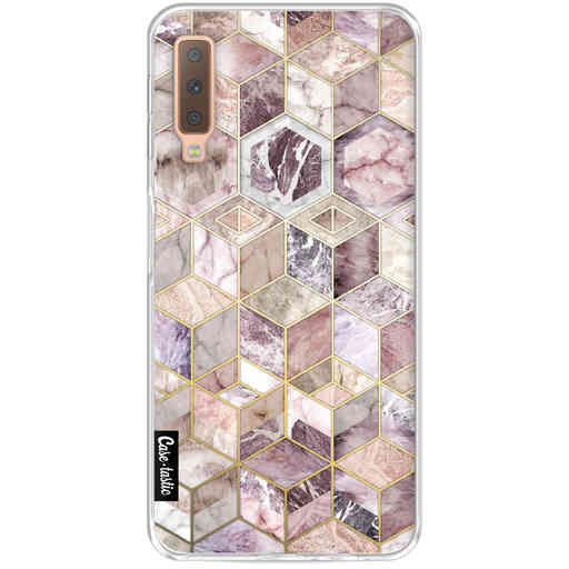 Casetastic Softcover Samsung Galaxy A7 (2018) - Blush Quartz Honeycomb