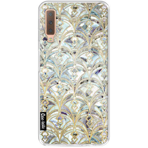 Casetastic Softcover Samsung Galaxy A7 (2018) - Mint Art Deco Marbling