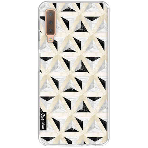 Casetastic Softcover Samsung Galaxy A7 (2018) - Marble Triangle Blocks