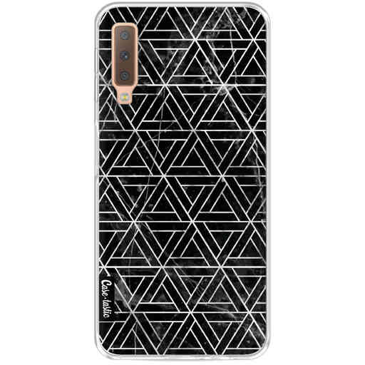 Casetastic Softcover Samsung Galaxy A7 (2018) - Abstract Marble Triangles