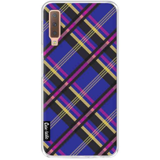 Casetastic Softcover Samsung Galaxy A7 (2018) - Purple Tartan