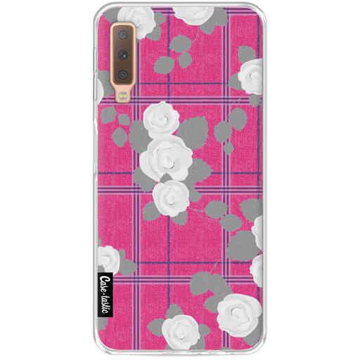 Casetastic Softcover Samsung Galaxy A7 (2018) - Flower Tartan Pink