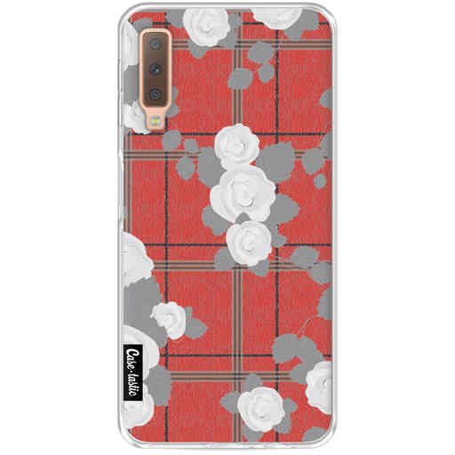 Casetastic Softcover Samsung Galaxy A7 (2018) - Flower Tartan Red