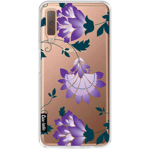 Casetastic Softcover Samsung Galaxy A7 (2018) - Purple Dahlia Flower