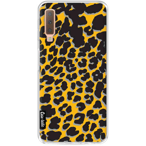 Casetastic Softcover Samsung Galaxy A7 (2018) - Leopard Print Yellow
