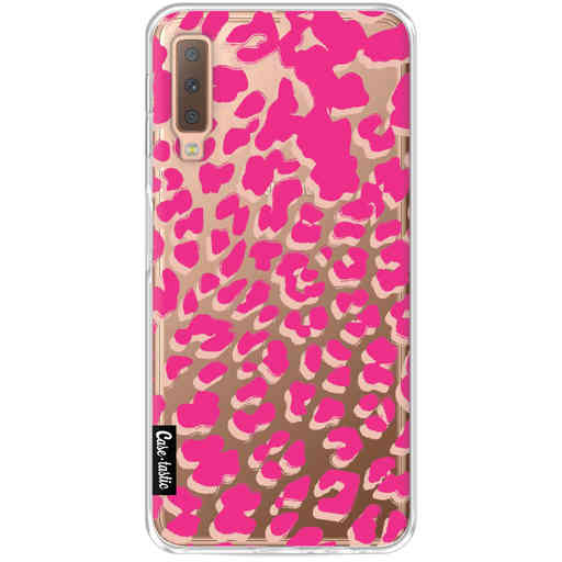 Casetastic Softcover Samsung Galaxy A7 (2018) - Leopard Print Pink