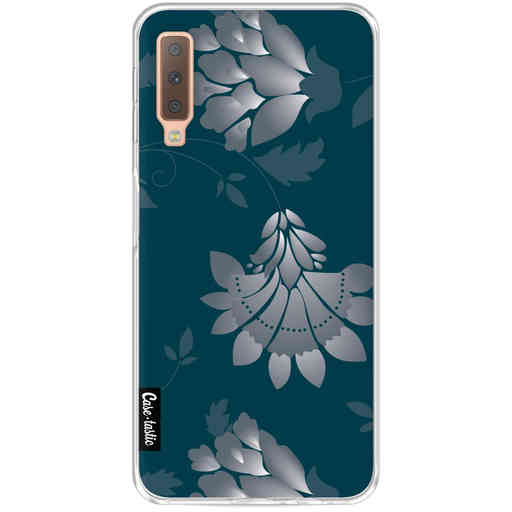 Casetastic Softcover Samsung Galaxy A7 (2018) - Grey Dahlia Flower