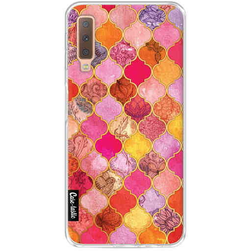 Casetastic Softcover Samsung Galaxy A7 (2018) - Pink Moroccan Tiles