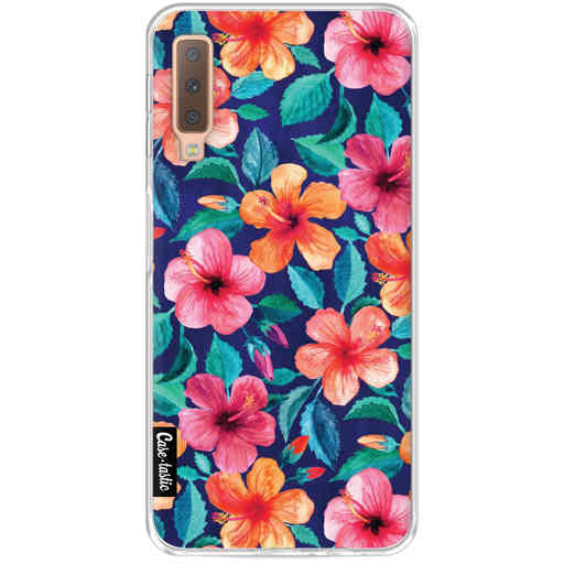 Casetastic Softcover Samsung Galaxy A7 (2018) - Colorful Hibiscus
