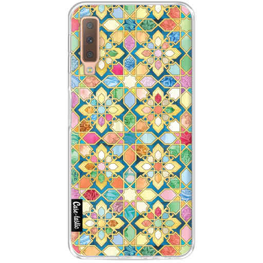 Casetastic Softcover Samsung Galaxy A7 (2018) - Gilded Moroccan Mosaic Tiles
