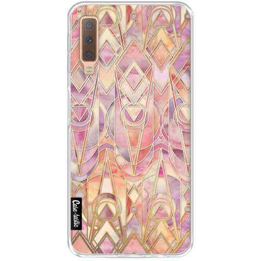 Casetastic Softcover Samsung Galaxy A7 (2018) - Coral and Amethyst Art