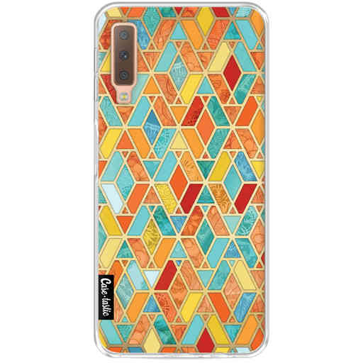 Casetastic Softcover Samsung Galaxy A7 (2018) - Geometric Tile Pattern