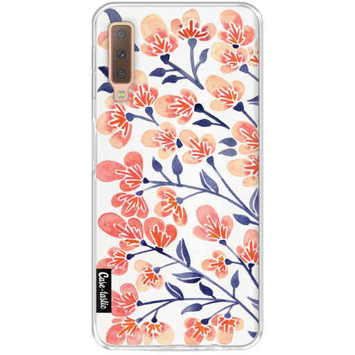Casetastic Softcover Samsung Galaxy A7 (2018) - Cherry Blossoms Peach