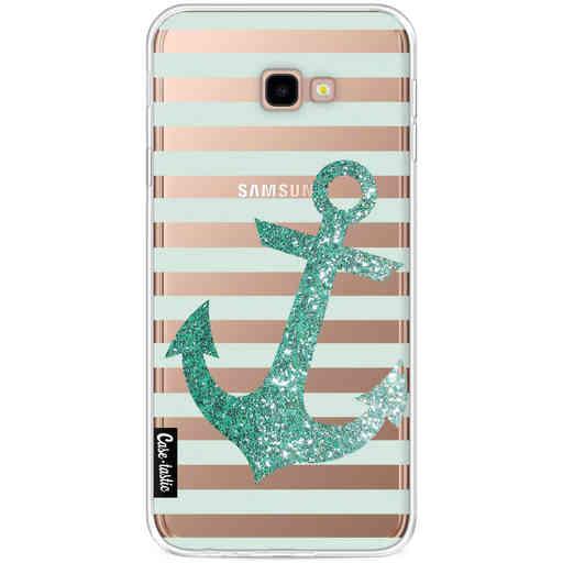 Casetastic Softcover Samsung Galaxy J4 Plus (2018) - Glitter Anchor Mint