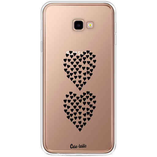 Casetastic Softcover Samsung Galaxy J4 Plus (2018) - Hearts Heart 2 Black Transparent