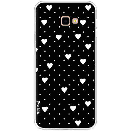 Casetastic Softcover Samsung Galaxy J4 Plus (2018) - Pin Point Hearts Black
