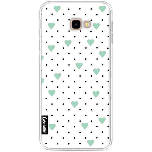 Casetastic Softcover Samsung Galaxy J4 Plus (2018) - Pin Point Hearts Mint