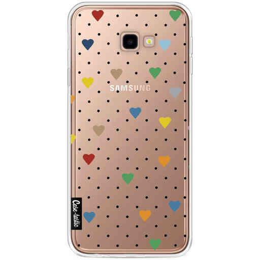 Casetastic Softcover Samsung Galaxy J4 Plus (2018) - Pin Point Hearts Transparent