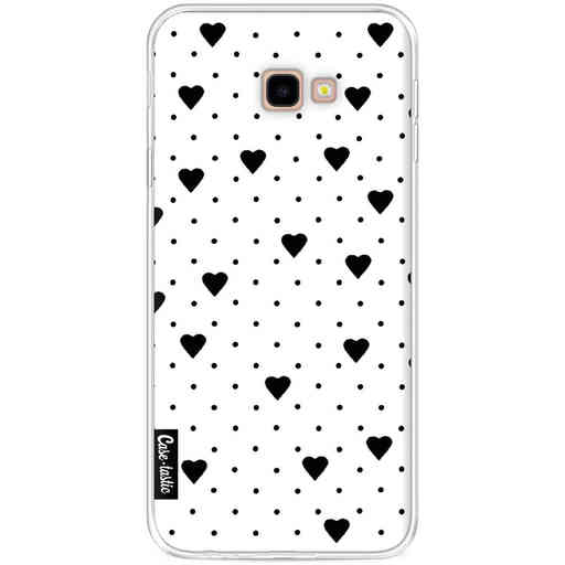 Casetastic Softcover Samsung Galaxy J4 Plus (2018) - Pin Point Hearts White
