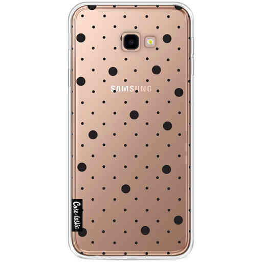 Casetastic Softcover Samsung Galaxy J4 Plus (2018) - Pin Points Polka Black Transparent