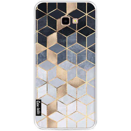 Casetastic Softcover Samsung Galaxy J4 Plus (2018) - Soft Blue Gradient Cubes