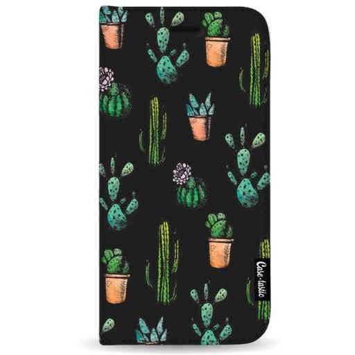 Casetastic Wallet Case Black Samsung Galaxy A7 (2018) - Cactus Dream